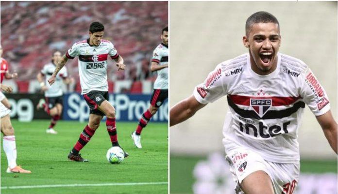 Montagem sobre fotos/Reprodução/SPFC/Flamengo