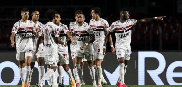 Crédito: Tricolor comemora gol - Site oficial São Paulo