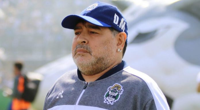 Crédito: Atualmente, Maradona é treinador do Gimnasia y Esgrima (Reprodução/Club de Gimnasia y Esgrima La Plata)