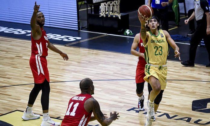 Caio Pacheco foi o cestinha do jogo com 16 pontos (Twitter/basquetebrasil)