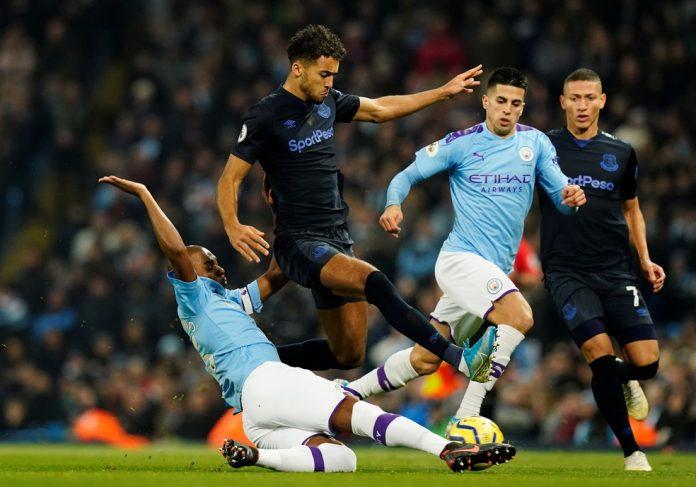 Everton e Manchester City se enfrentaram pela última vez em janeiro de 2020 — Foto: Reuters