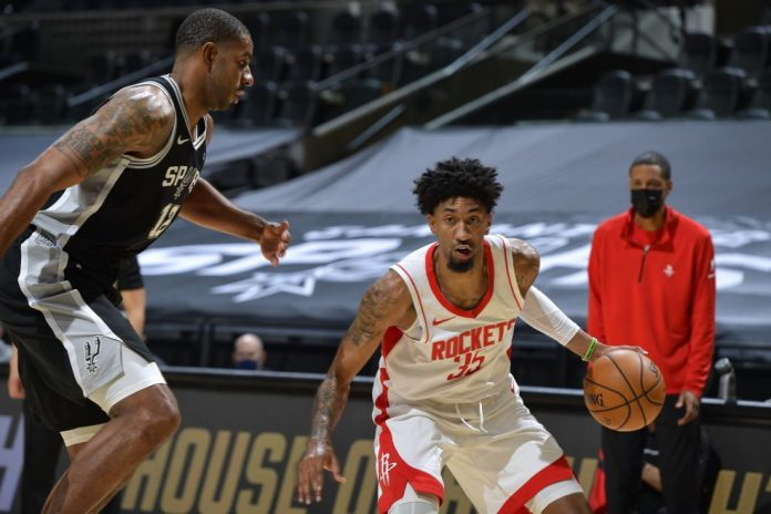 Christian Wood Houston Rockets x San Antonio Spurs NBA