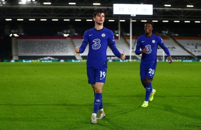 Mason Mount comemora o gol da vitória do Chelsea sobre o Fulham — Foto: Getty Images