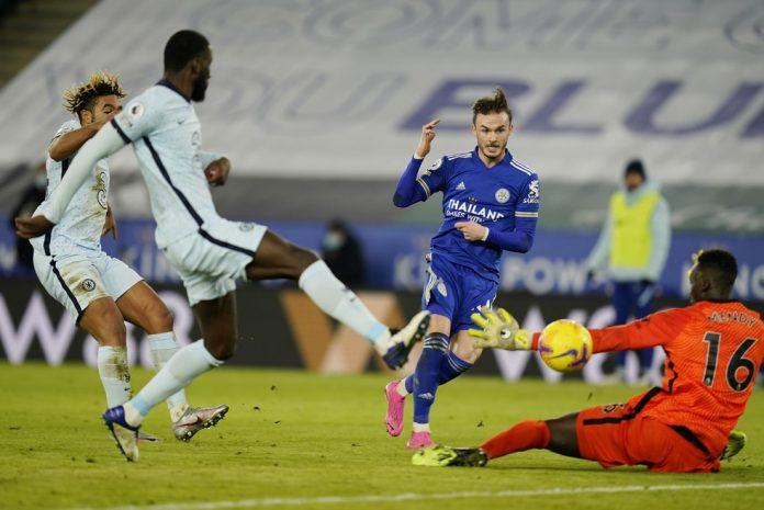 Maddison marca segundo do Leicester sobre o Chelsea na 19ª rodada da Premier League — Foto: Getty Images