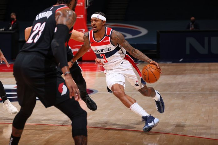 Bradley Beal Washington Wizards x Portland Trail Blazers — Foto: Ned Dishman/NBAE via Getty Images