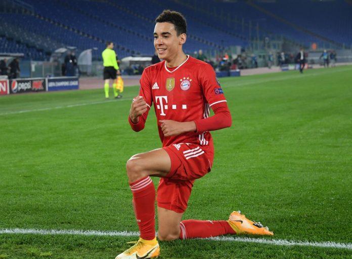 Jovem Musiala, de 17 anos, foi um dos destaques do Bayern de Munique contra a Lazio — Foto: Reuters