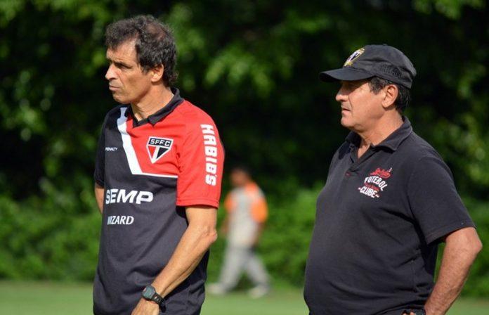 Milton Cruz e Muricy Ramalho no São Paulo — Foto: site oficial / saopaulofc.net