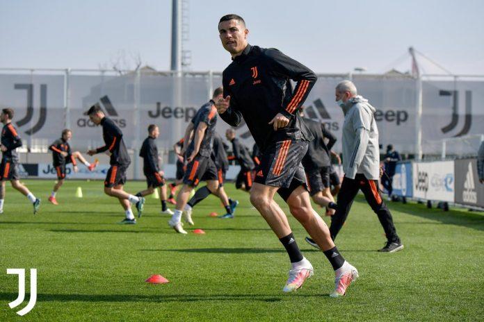 Cristiano Ronaldo não atuou contra a Lazio, focado no duelo contra o Porto — Foto: Divulgação/Juventus