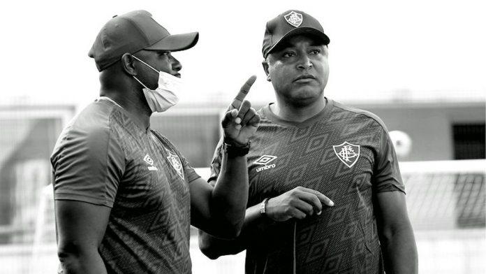 Marcão e Roger Machado unem forças no Fluminense — Foto: Mailson Santana / Fluminense FC