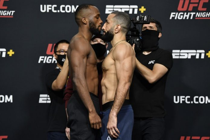 Leon Edwards x Belal Muhammad: luta principal do UFC deste sábado — Foto: Getty Images