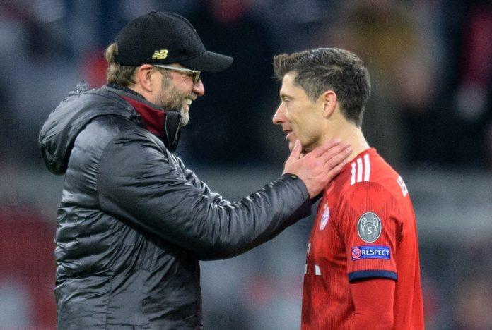 Robert Lewandowski e Jürgen Klopp: atacante e técnico estiveram juntos por quatro anos no Borussia — Foto: Getty Images