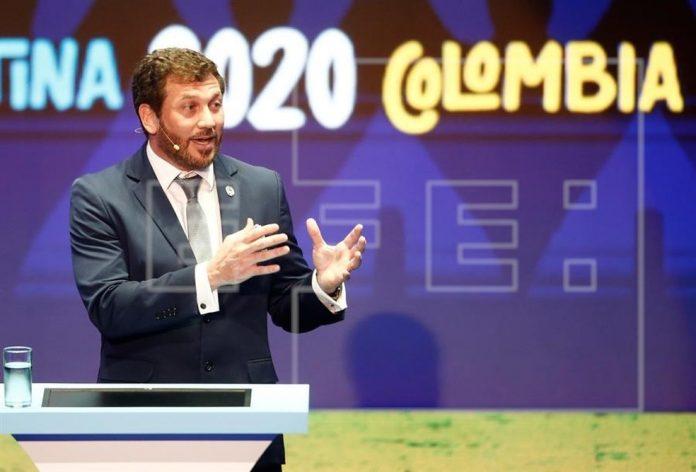 Alejandro Domínguez, presidente da Conmebol — Foto: EFE