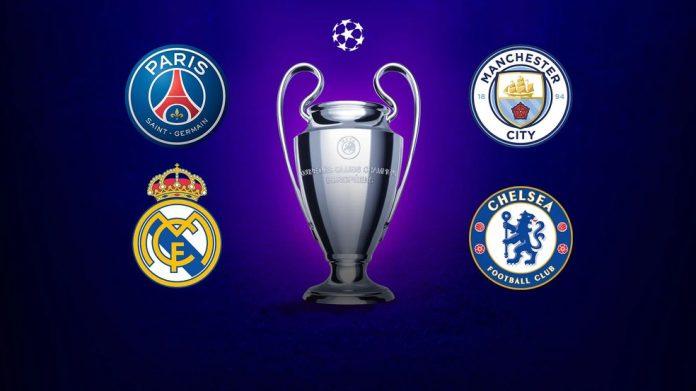 Liga dos Campeões será de PSG, Manchester City, Real Madrid ou Chelsea
