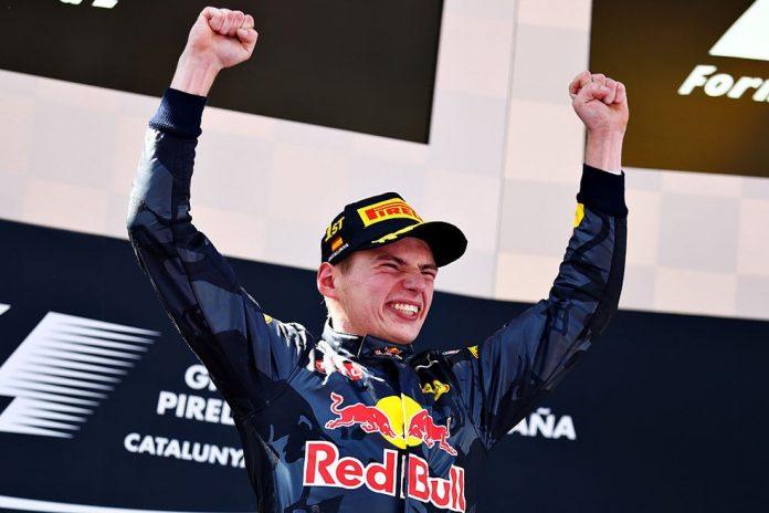 Max Verstappen comemora primeira vitória na F1 no GP da Espanha de 2016