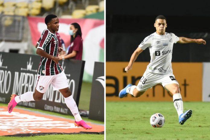 Kayky, do Fluminense, e Kaiky, do Santos