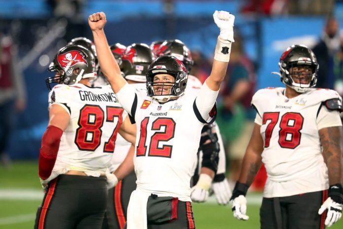 Tom Brady campeão Tampa Bay Super Bowl LV NFL — Foto: Mark J. Rebilas-USA TODAY Sports