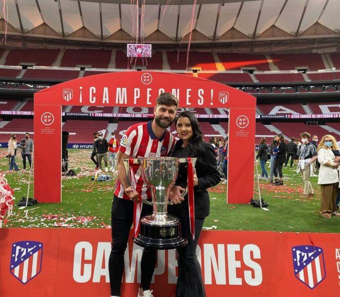 Zagueiro Felipe conquistou seu primeiro título com o Atlético de Madrid — Foto: Reprodução/Instagram